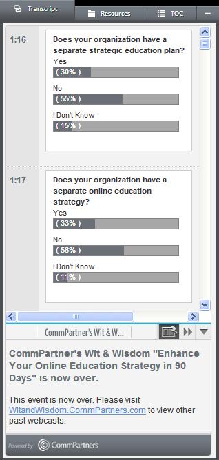 Webinar Poll Questions