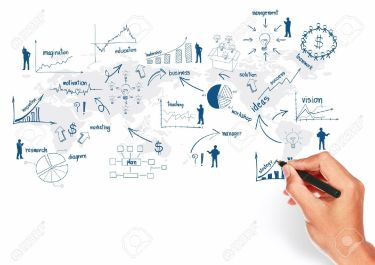 19957784-Global-business-plan-concept-presentation-With-creative-hand-drawing-business-strategy-plan-concept--Stock-Photo